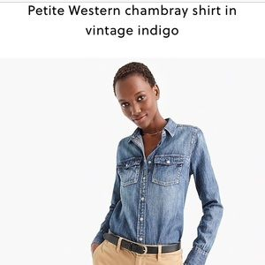 NWT petite western chambray shirt from J. Crew